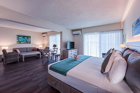 Bedroom & Living Area