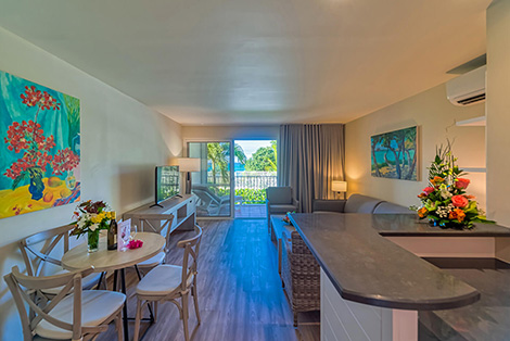 Dining & Living with Garden View