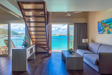 Living Area with Ocean View