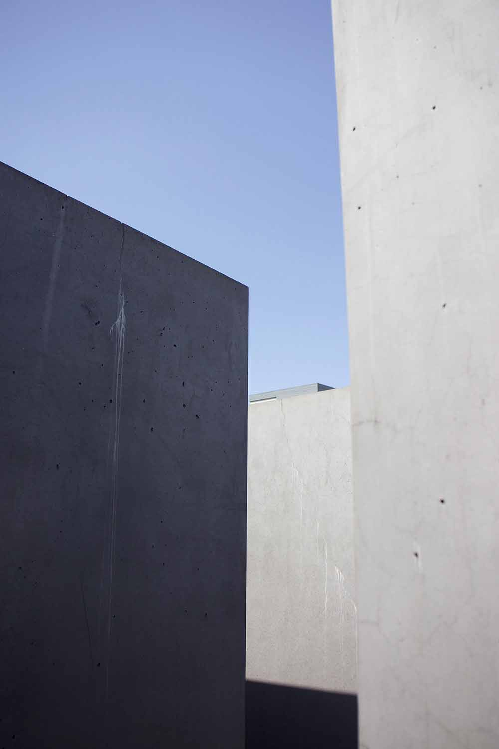Abstract concrete forms.