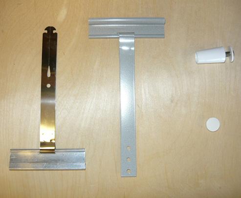 Slat hanger, conic stopper, hole plug