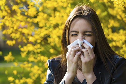 Pollen is a common allergy trigger