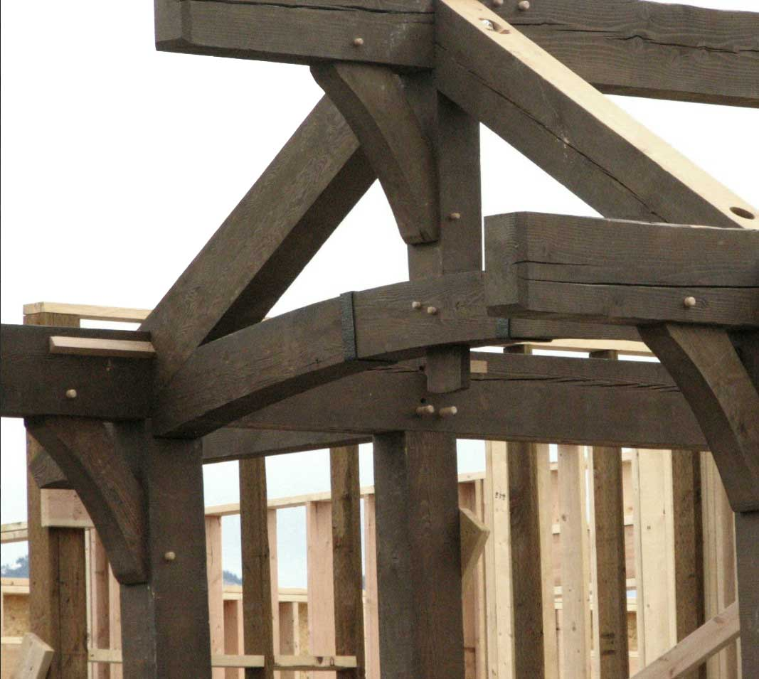 Wood structure detail