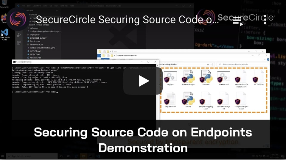Securing source code on endpoints video