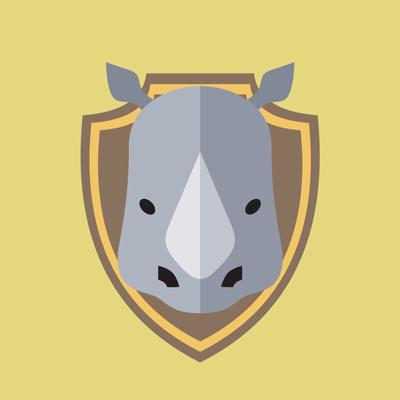 Taxidermy rhino
