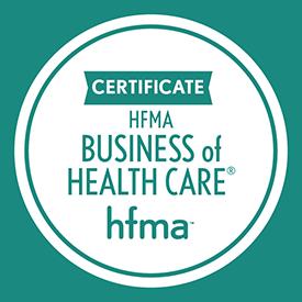 HMFA business of health care certificate seal
