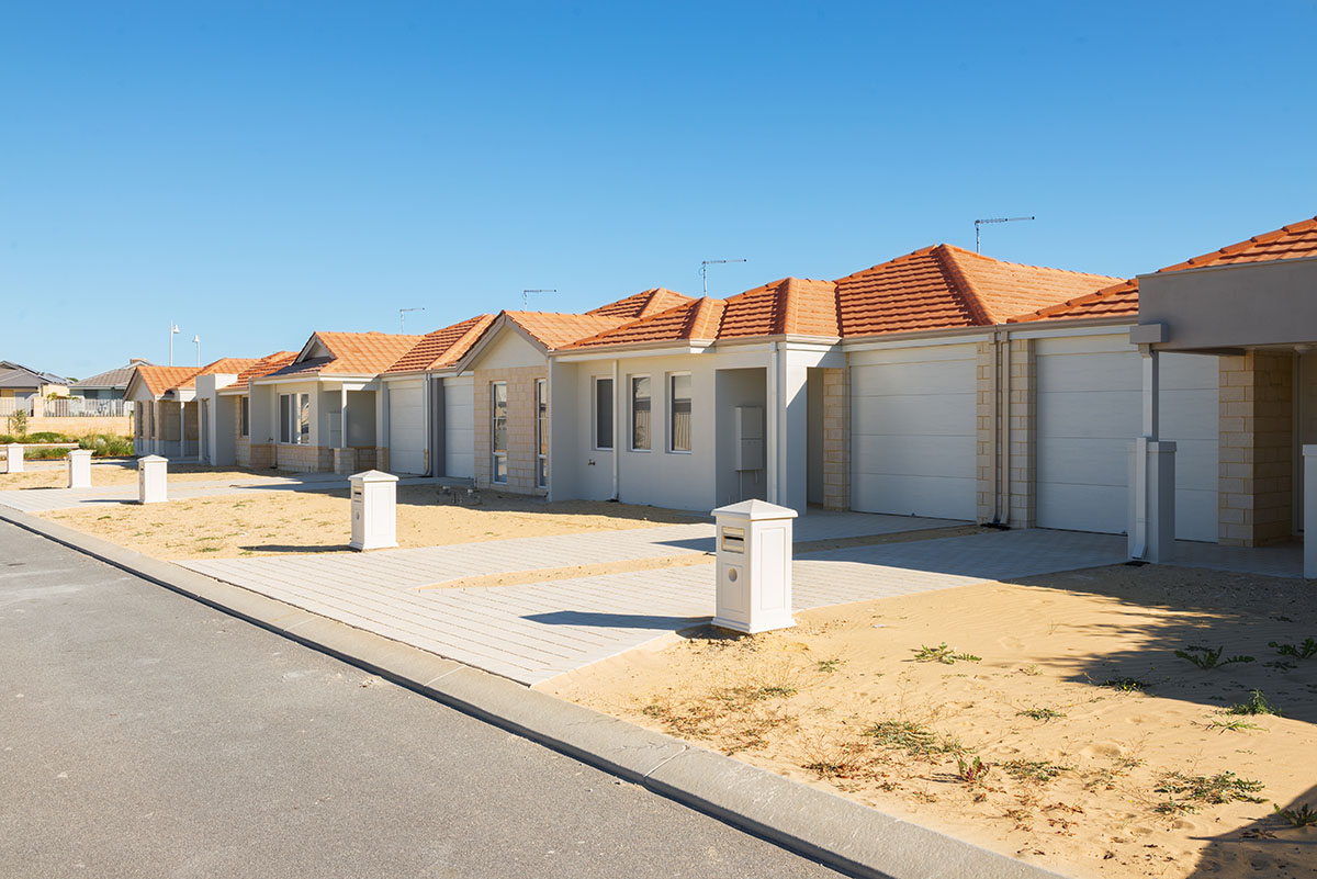 Photo of new homes just built
