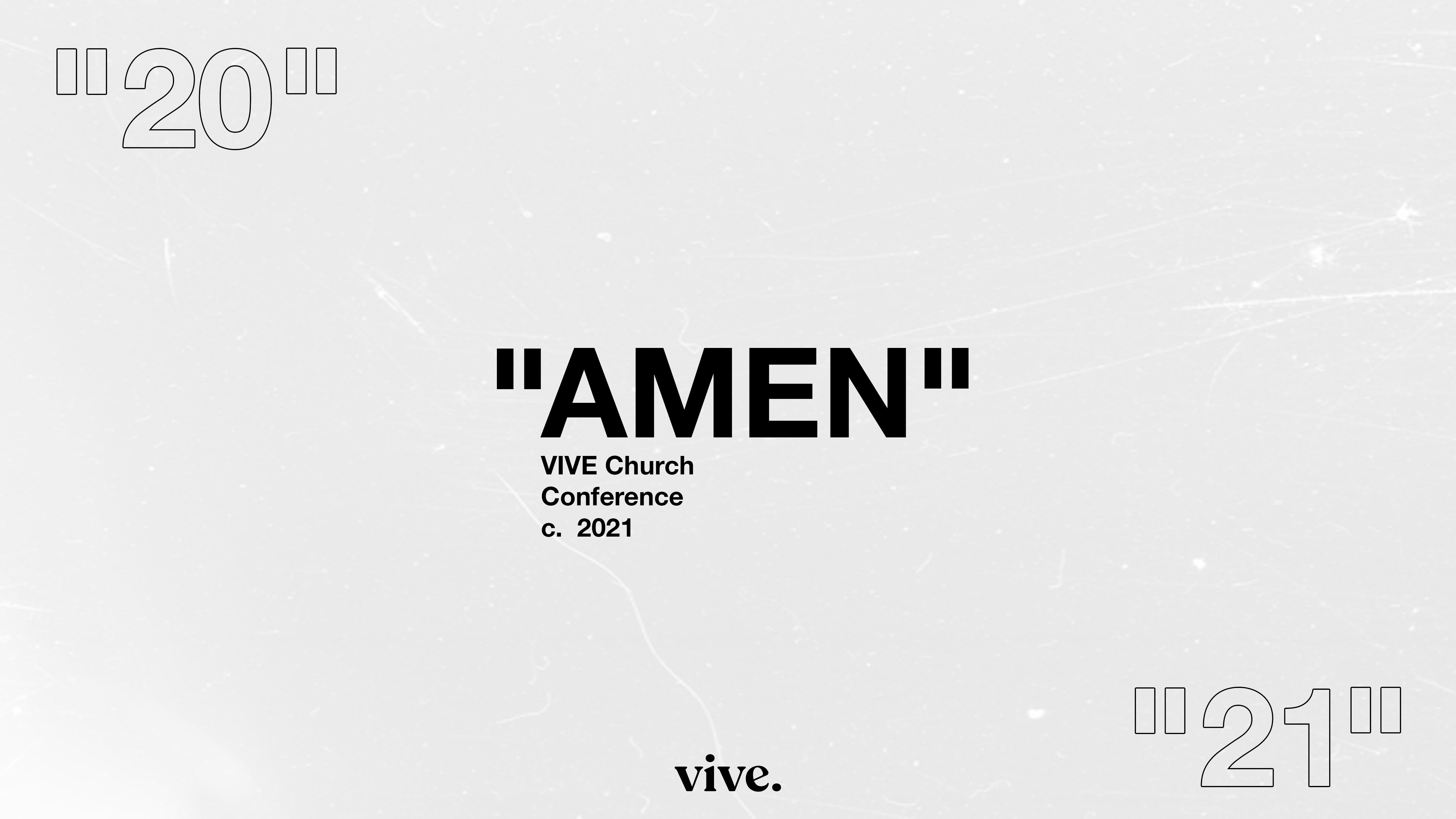 AMEN Conference 2021 by Vive Church Artwork