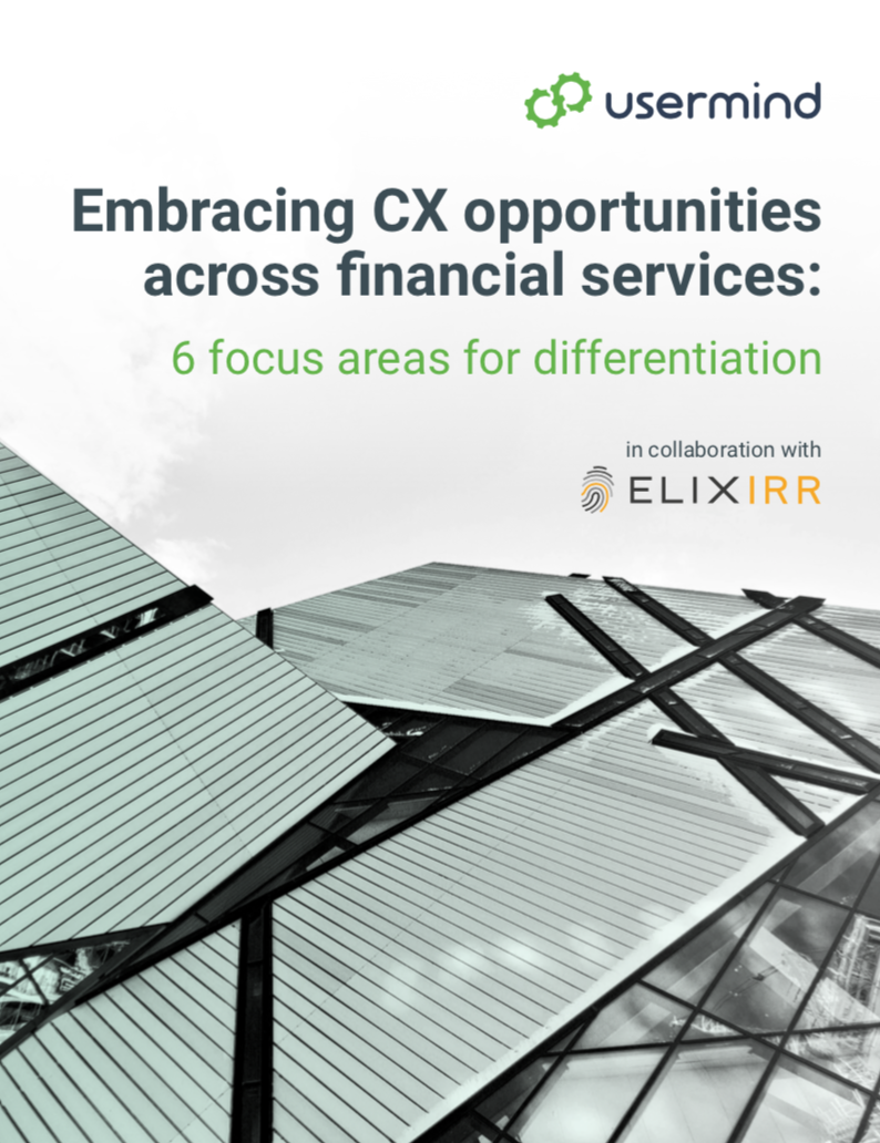 Embracing CX opportunities across financial services