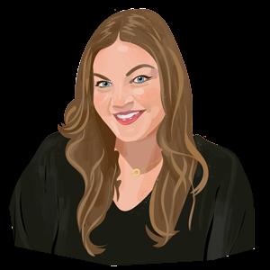 Portrait illustration of Emily Hodgkins