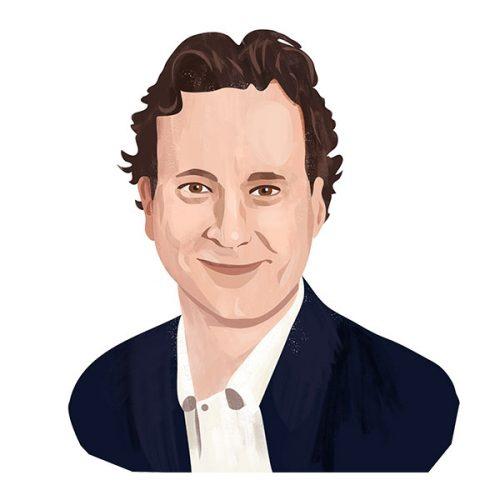 Portrait illustration of Ed James
