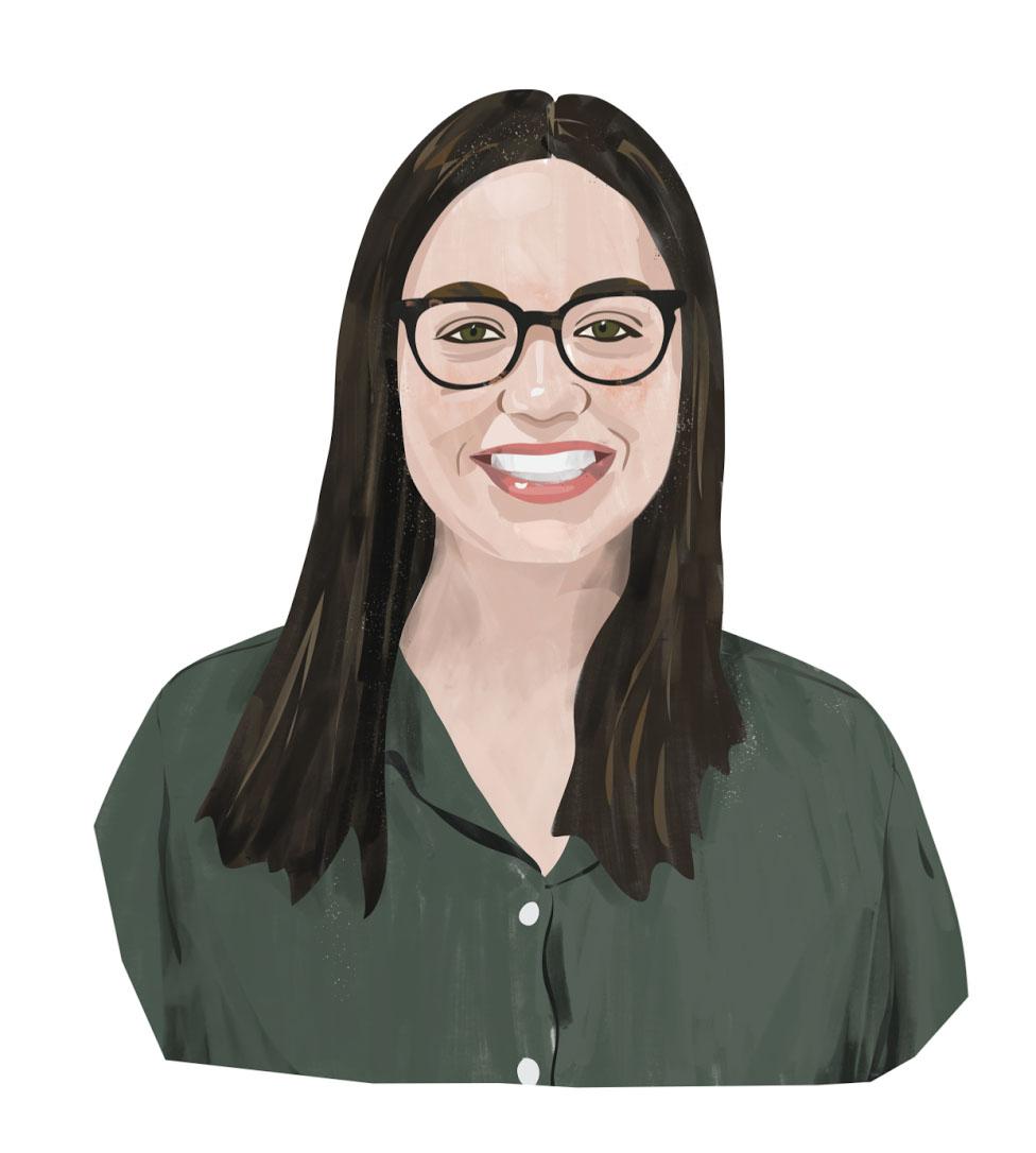 Portrait illustration of Erin Freilich