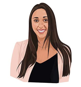 Portrait illustration of Lauren Seewald