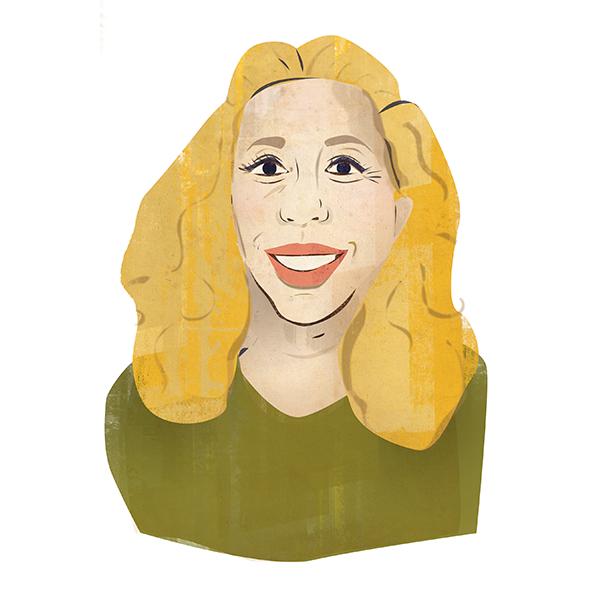 Portrait illustration of Lisa Dallos