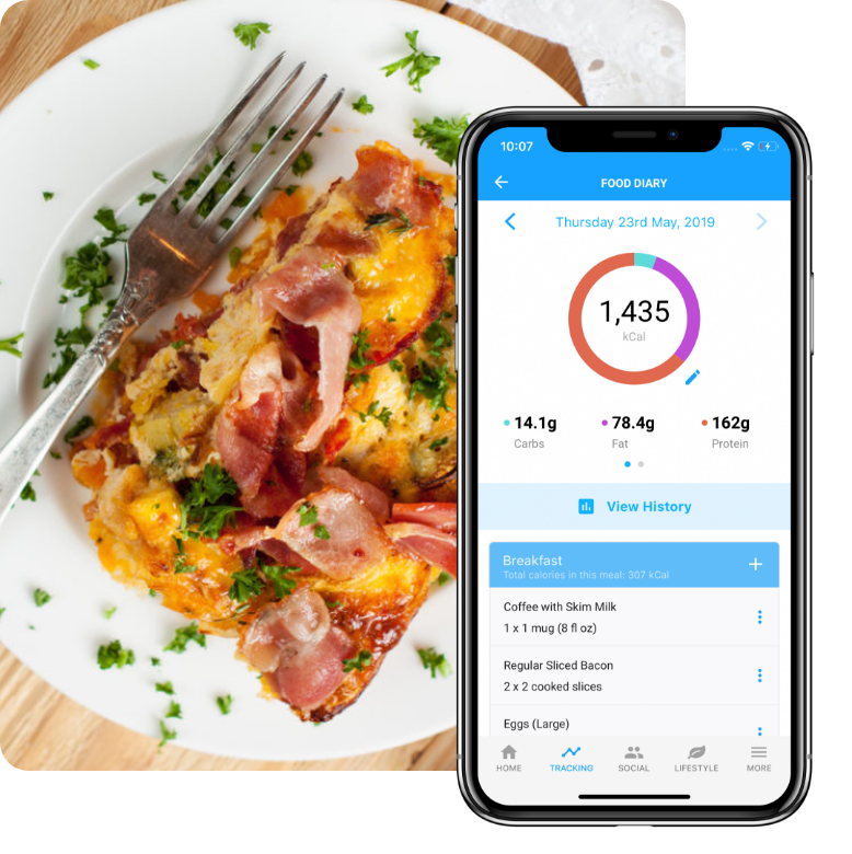 Food diary on the Low Carb Program App