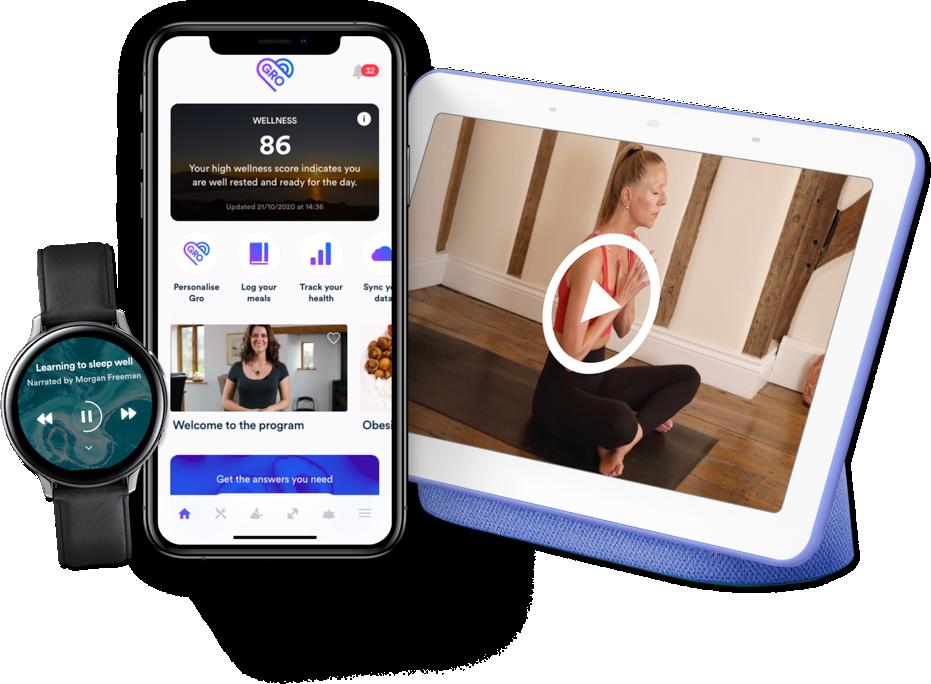 Gro health app on multiple platforms