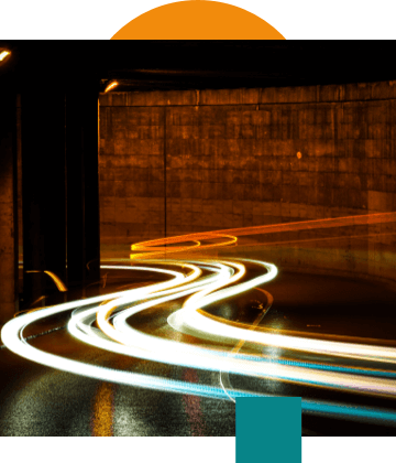 image with lights from a car