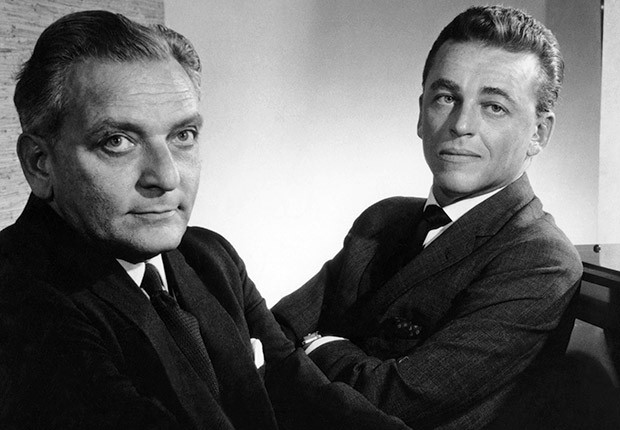 Alan Jay Lerner (right) with Frederick Loewe (left)
