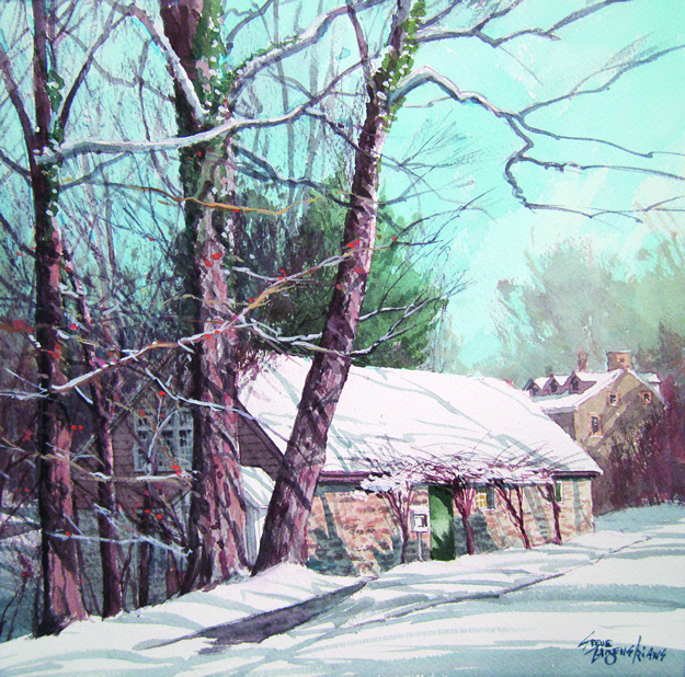 """Winter Sun, Phillips' Mill"" by Steve Zazenski"