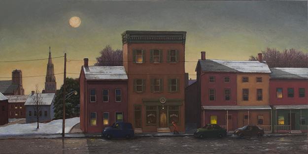 """""""Edge of Town - Lambertville"""" by Tom Chesar"""