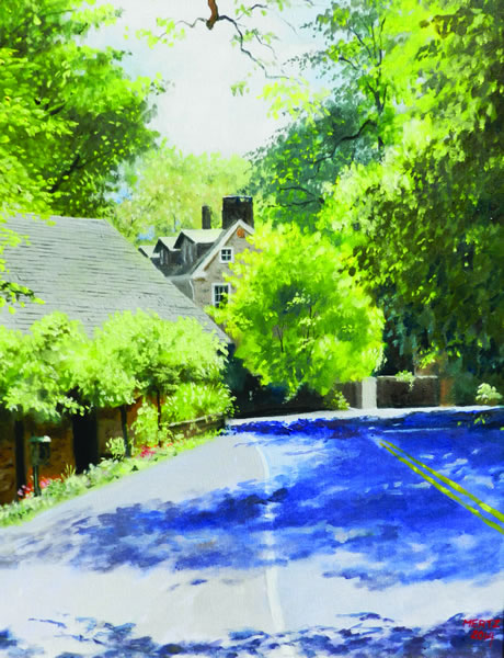 """""""Late Summer at Phillips' Mill"""" by John C. Mertz was selected by the 2014 Art Committee as this year's image piece."""