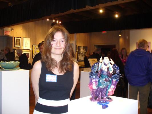 "1st prize Sculpture: Alexandra Wirkijowski, from Central Bucks East High School ""Dusk"""