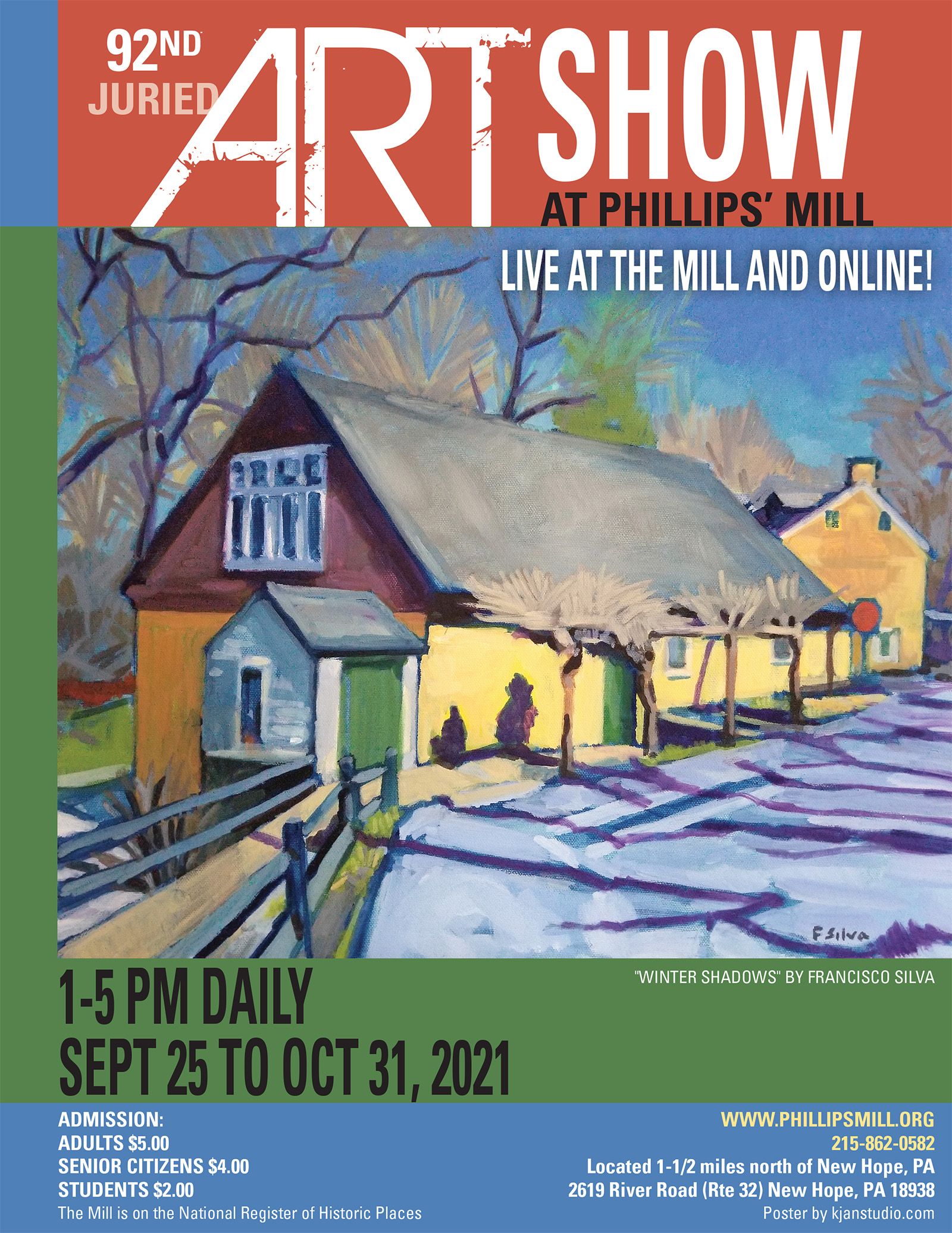 92nd Juried Art Show at Phillip's Mill - Poster with Signature Image by Francisco Silva