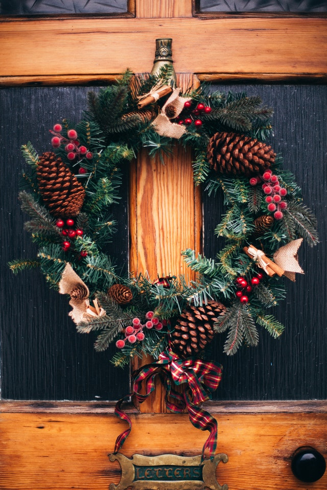 Holiday decoration card link photo