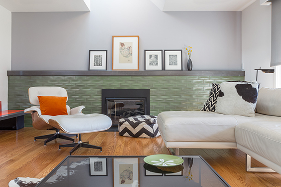 hart wright fireplace remodel