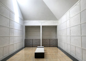 serene modern calm mausoleum
