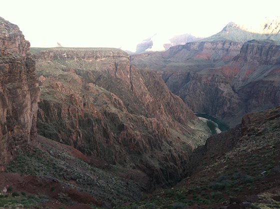 Initial Decent to the Colorado River