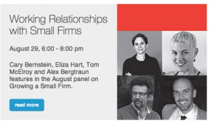 """Eliza Hart will be featured panelist in the """"Growing a Small Firm"""" series at the AIA San Francisco Chapter"""