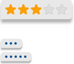 3 out of 5 stars and social symbols