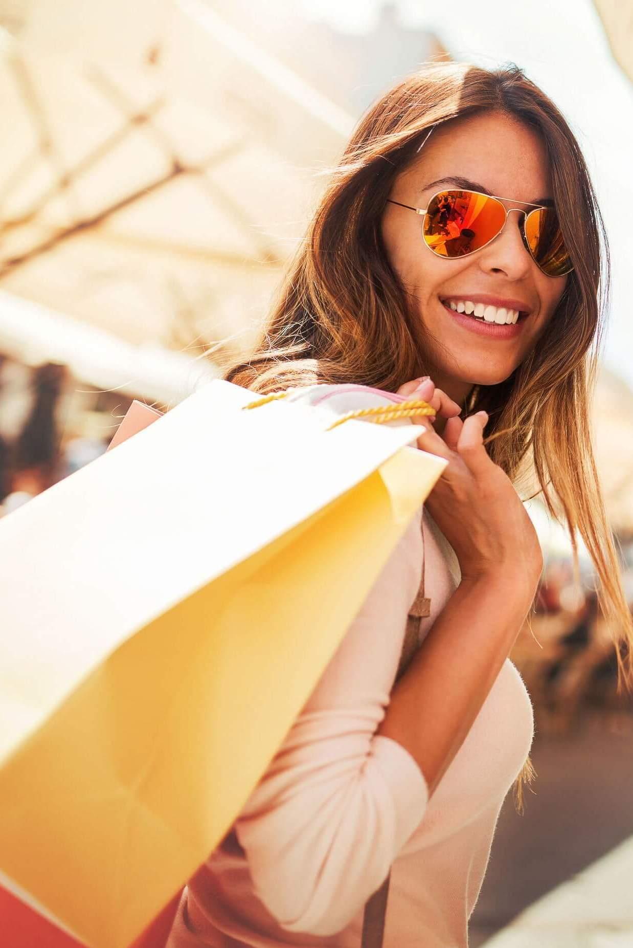 Young female shopper.