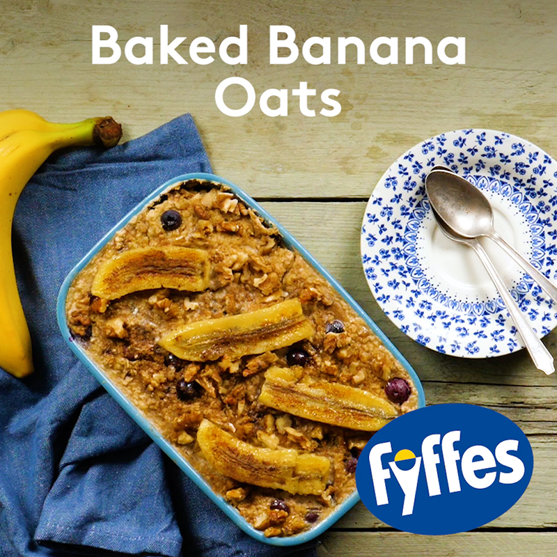Fyffes Baked Banana Oats Recipe