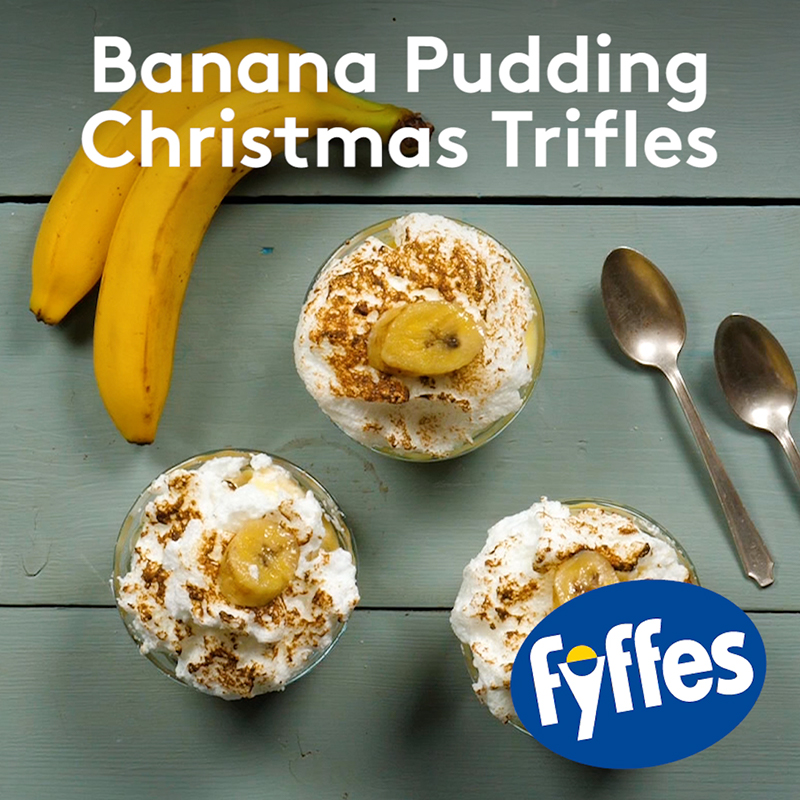 Fyffes Banana Pudding Christmas Trifle Recipe