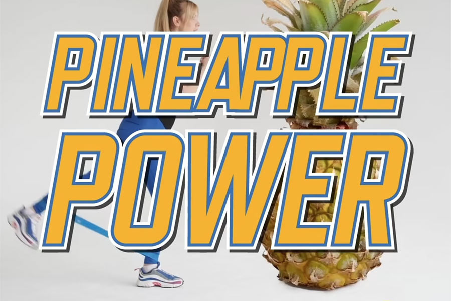 Pineapples Before and After Exercise