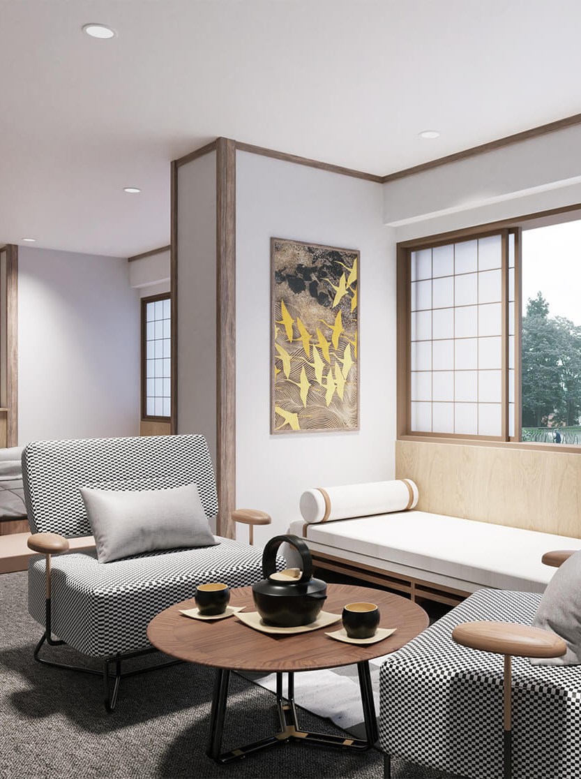 Image of an apartment created by Matsumura Design