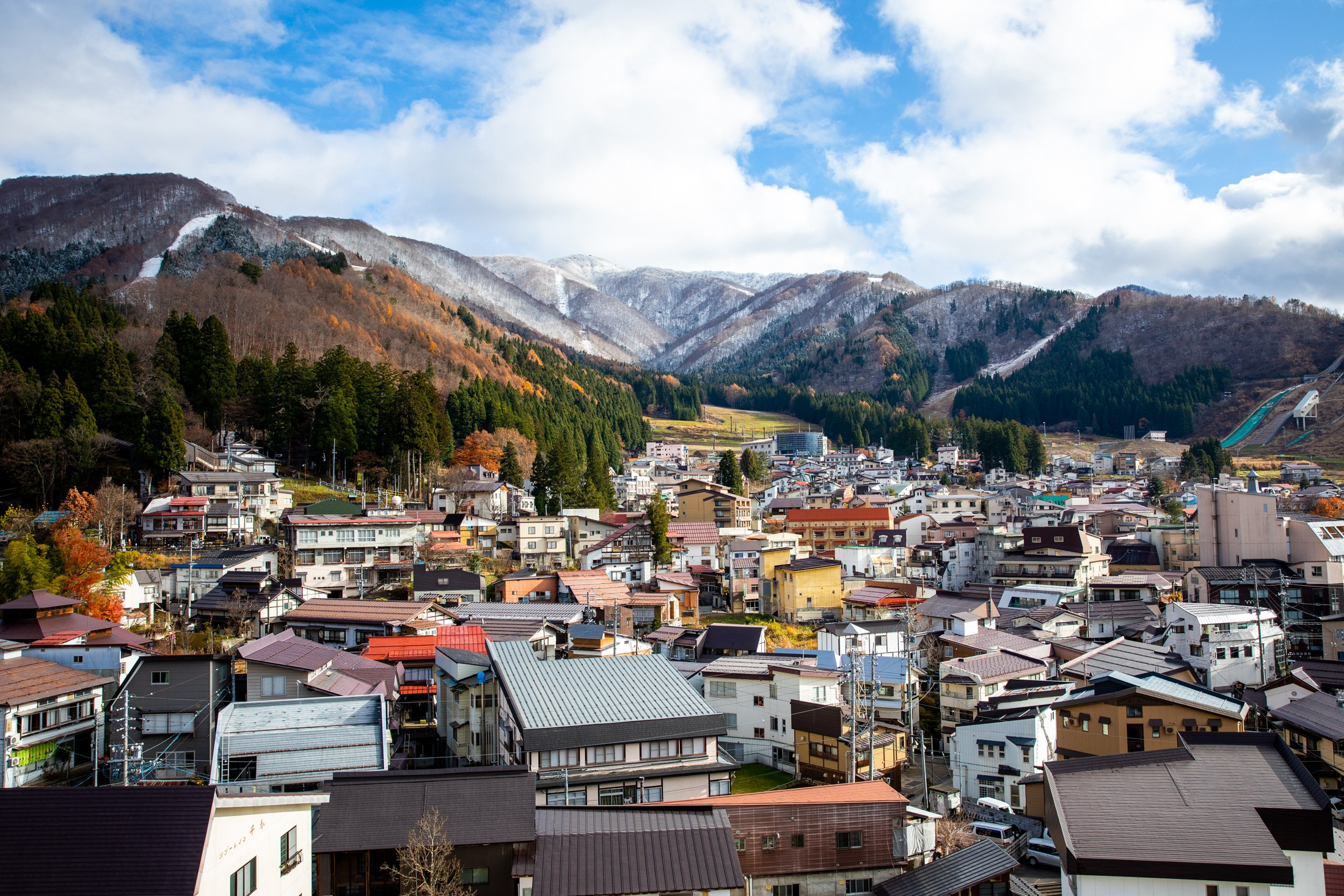 Bird's-eye view of Nozawa Onsen