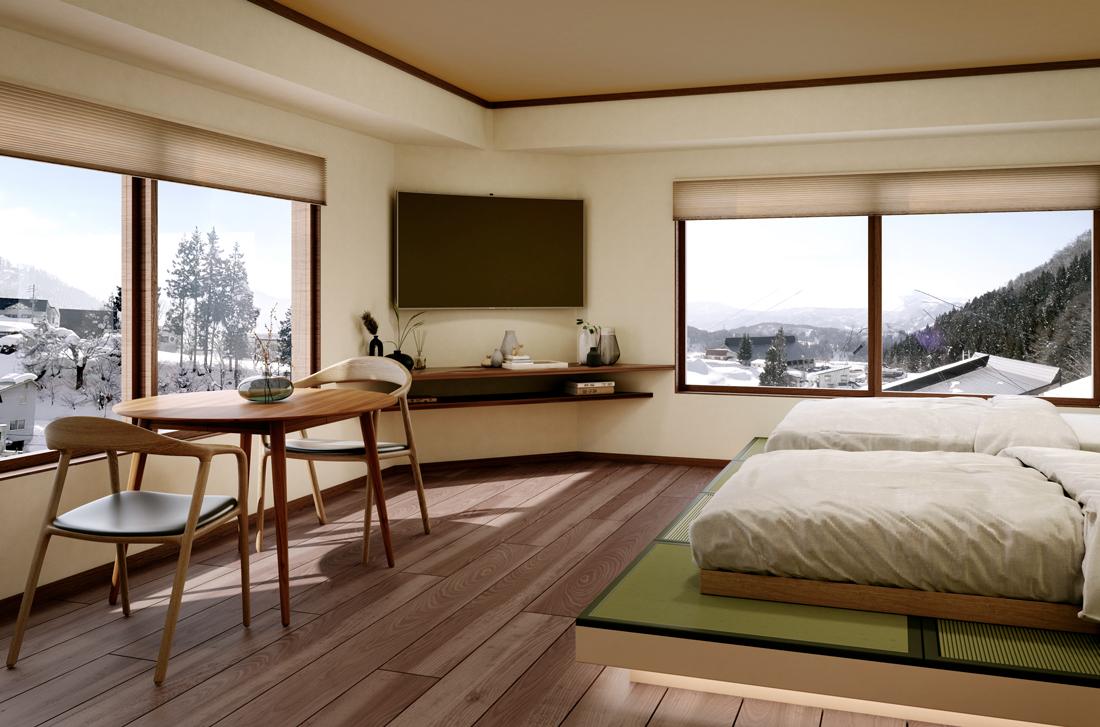 Modern two bed apartment at kawamotoya