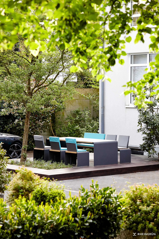 Exklusive Gartenmöbel von Rheingrün Living aus langlebigen Materialien