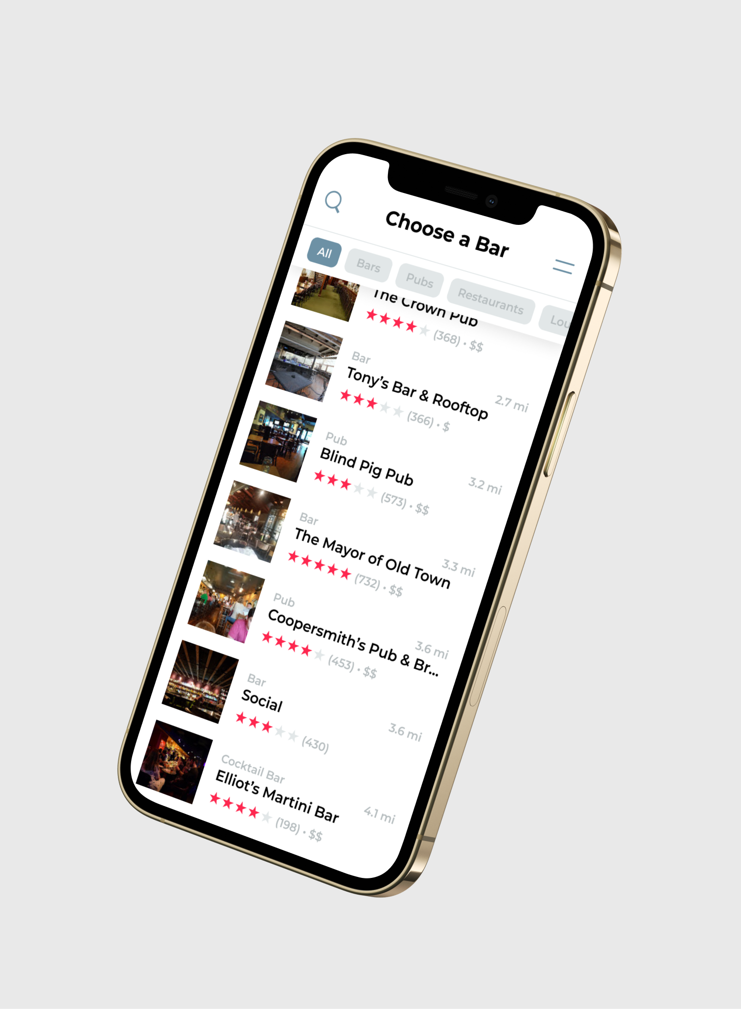 An image of TabHop's user-friendly app that makes it easy for members to enjoy free drinks at their favorite local spots in Colorado