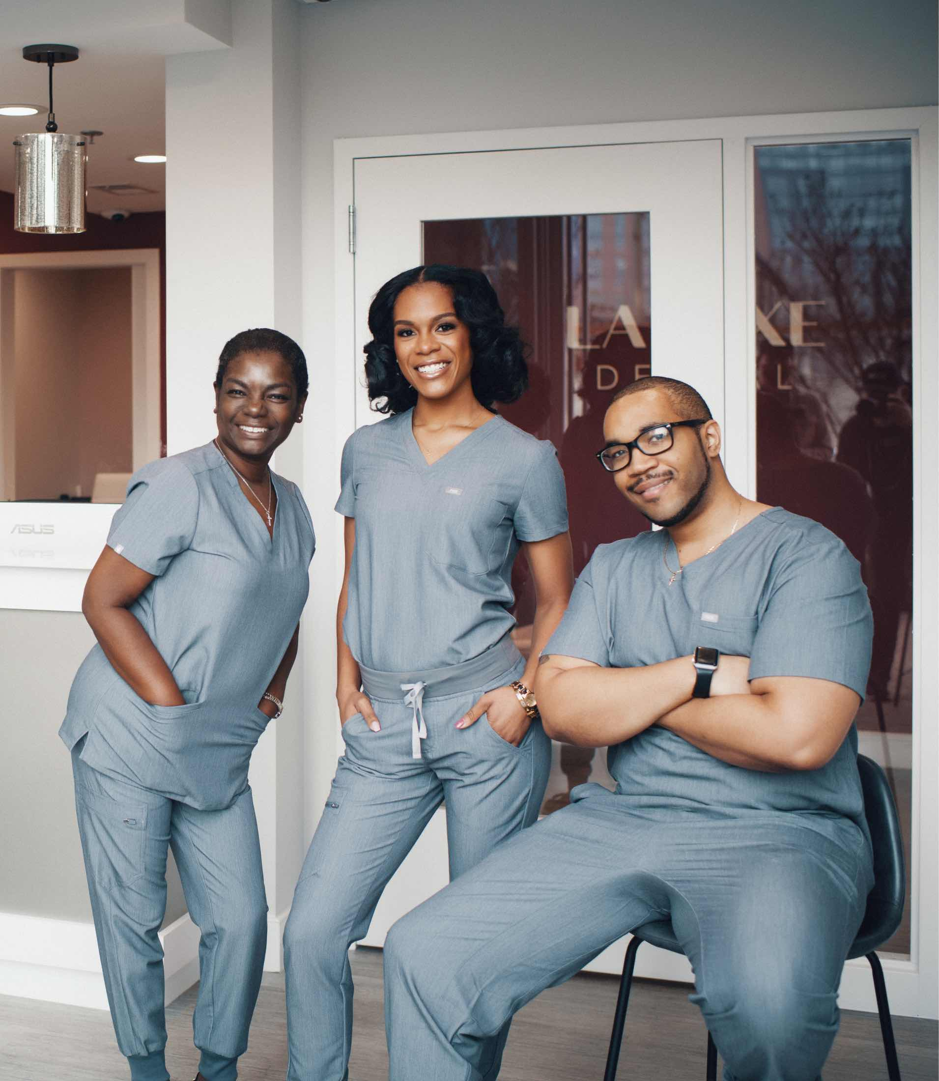 Photo of the La Luxe Dental team