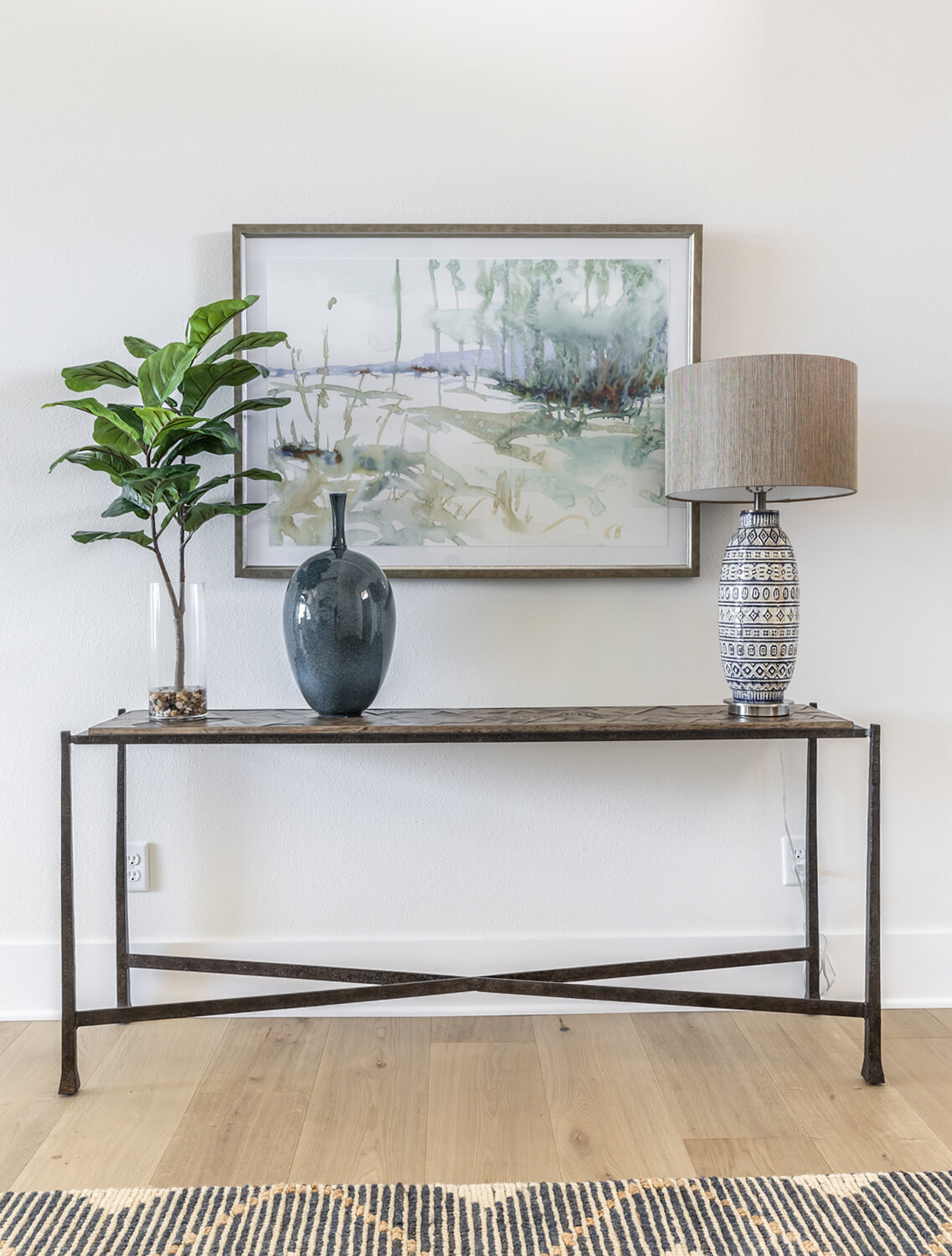 Modern Rustic Console Table