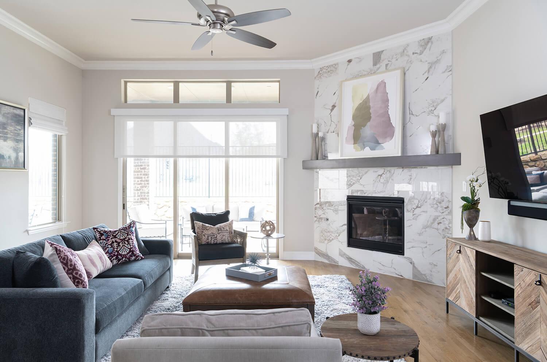 Modern Classic Living Room Interior Designer Texas