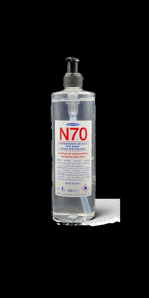 Gel igienizzante mani N70