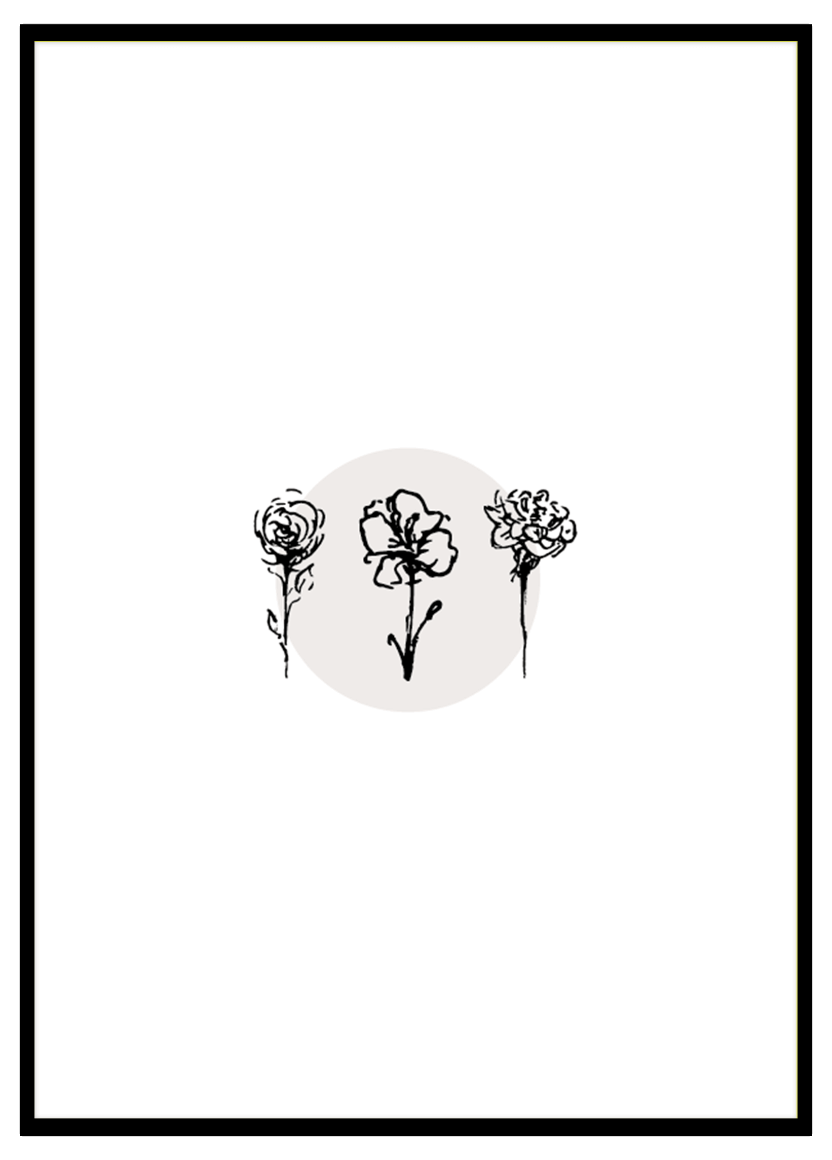 3 Flowers With Circle