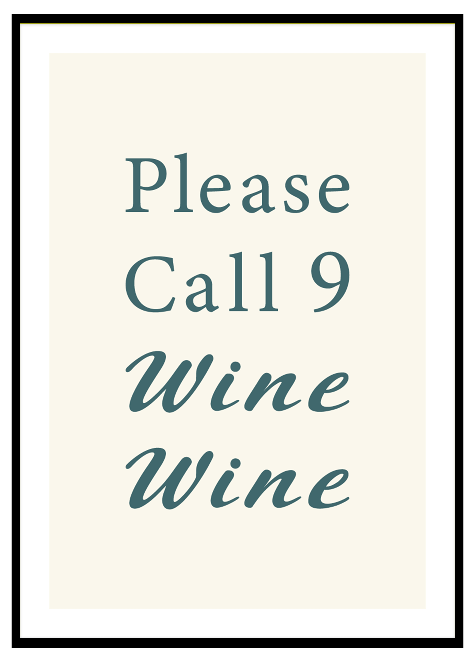 Please Call 9 Wine Wine