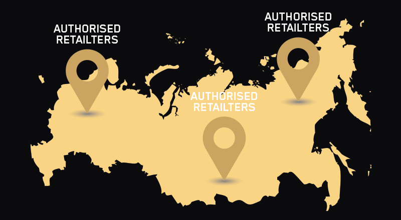 Map with Authorised Retailers