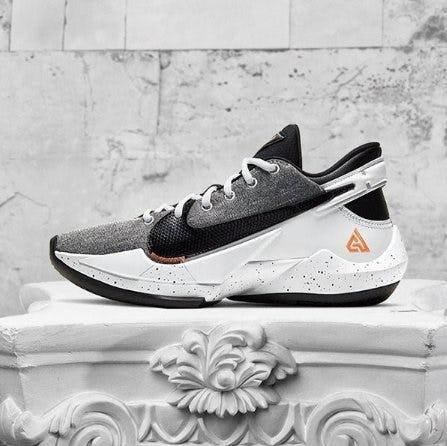 Nike Zoom Freak 2 gray and white shoe